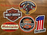 Harley Davidson VINTAGE style sticker Old school skull with helmet wings Decal