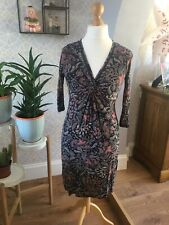 Fat Face Dress Size 10 Stretch Paisley Print