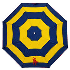 New RALPH LAUREN Navy/Yellow Automatic Open/Close Logo Umbrella Brolly Gift