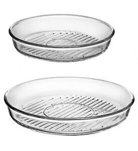 Grill Auflaufformen rund Borcam aus Glas Mikrowellengeschirr Backofenform