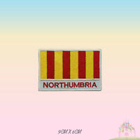 NORTHUMBRIA UK County Flag With Name Embroidered Iron On Patch Sew On Badge