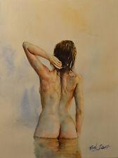 Contemporary Art/ Original painting by American Artist Grace Eun Jung / Nude