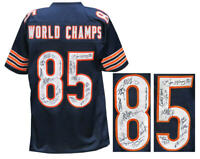 1985 Bears Team Signed Navy Custom Football Jersey (22 Sigs) - SCHWARTZ COA