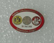 Fussball Pin deutsche Meisterschaft 1962/63 Borussia Dortmund BVB  - 1. FC Köln