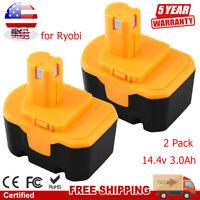 14.4V 3.0Ah Replace Battery 130224010 for Ryobi NIMH 130224011 130281002 1314702