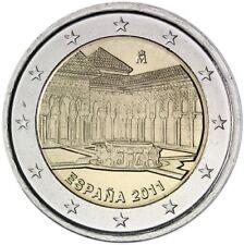 "SPAGNA SPAIN SPANIEN 2 € EURO 2011  "" GRANADA "" FDC BU ST DA ROTOLINO"