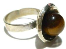 NIELS ERIK FROM NE FROM STERLING SILVER 925s MODERN TIGERS EYE WOMENS RING