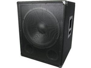 Omnitronic Subwoofer Bass PA DJ Party Live Musiker Box Lautsprecher 800 Watt