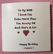 Funny cheeky happy birthday card husband wife boyfriend girlfriend personalised
