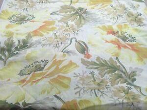 Urban Outfitters  Yellow Poppy King Cotton Duvet & Ruffled Shams 5 Pc EUC