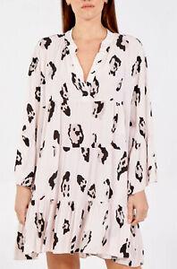 Womens Italian Oversized Smock Dress Ladies Tiered Midi Tunic Top Plus Size
