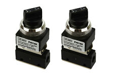 2x Latching Rotary Knob Pneumatic Control Valve 2 Port 2 Way 2 Position 1/8