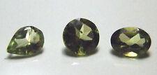 Pear Round & Oval cut green peridot natural gemstones..2.34 Carat total