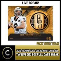 2019 PANINI GOLD STANDARD FOOTBALL 12 BOX FULL CASE BREAK #F261 - PICK YOUR TEAM