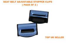 Azul Bmw Ajustable Cinturón De Seguridad tapón Clip Asiento Equipaje Paquete De 2