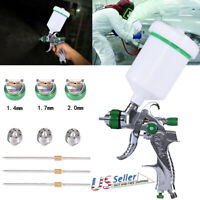 HVLP Air Spray Gun W/3 Nozzle 1.4mm,1.7mm,2.0mm.For Car Primer, Surface Painting