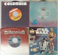 STAR WARS singles LOT: MECO-Cantina Band/Funk & STAR WARS Theme-(3)45s &(1)book