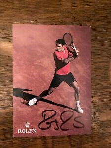ROGER FEDERER-    Hand Signed Autographed 4x6 Color photo…Beautiful Condition