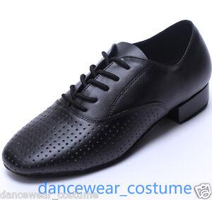 Mens Black Calf Leather Latin Tango Modern Jazz Waltz Ballroom Salsa Dance Shoes