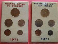 2 setjes 1971 Vlaams en Franse versie FDC