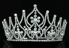 Tall Large Pageant Swarovski Crystal Tiara Sweet 16 Prom Quinceanera