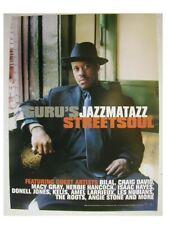 Jazzmatazz Poster Gangstarr Jazz Matazz Promo