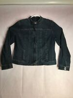 Style And Company Women's Extra Large Zipper Front Denim Jean Jacket