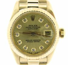 Ladies Rolex 18K Yellow Gold Datejust President w/Champagne Diamond Dial 6917
