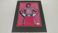 George Foreman Autographed 8x11 Matted Photo JSA COA