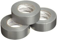"3 Rolls Heavy Duty Gray Duct Tape Industrial Contractor Grade, 2"" x 60 yds"