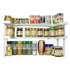 UPP Large 2 Tier Spice Rack & Kitchen Cupboard Organiser - 2 pcs. Set
