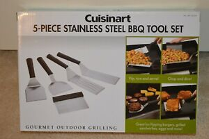 Cuisinart 5-Piece Stainless Steel BBQ Tool Set for Grill & Griddle Tool Grilling