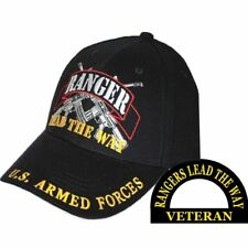 U.S. Army Ranger LEAD THE WAY Armed Forces Black Hat Cap CP00135