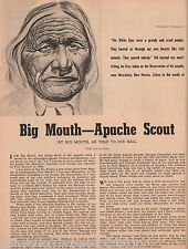 Mescalero Apache History of Scout Big Mouth, Ball, Carson, Gallanto, Natzili