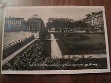 CPA noir et blanc Le Havre Les jardins de la Place Gambetta Le Théatre