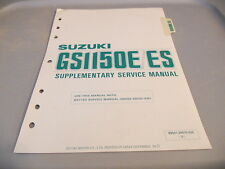 Suzuki Factory Service Manual Supplement 1985 GS1150E GS1150ES