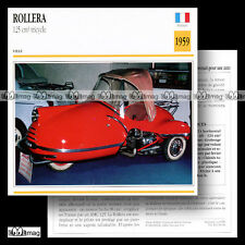 #039.04 ROLLERA 125 TRICYCLE 1950's (Moteur AMC) Fiche Moto Motorcycle Card