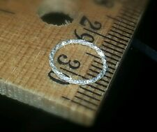 Nose Ring * DIAMOND-Cut * Sterling Silver Hoop Cartilage SPARKLE Tragus Helix