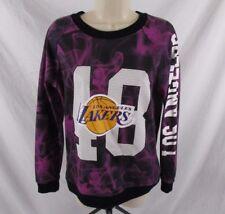 Los Angeles Lakers NBA Womens Sweatshirt Crew Neck Graphic Sz Medium CB71E