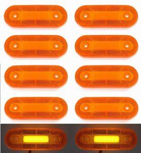 Orange LED Neon Lichter 10x 12V Umfang Marker Lampe Lkw VW Fiat Volvo
