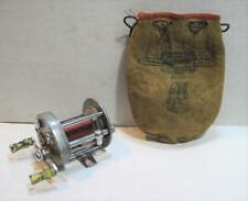 Vintage Pflueger Supreme 1573 Level Winding Anti Back Lash w Leather Pouch Works