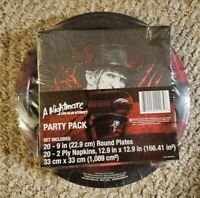 A Nightmare On Elm Street Party Pack 20 plates/Napkins Brand New
