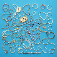 Vintage Huge DOLL Pearl Jewelry Lot for 1950s Fashion Dolls For Use Re-Purpose