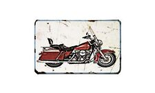 Flhs Motorbike Sign Metal Retro Aged Aluminium Bike
