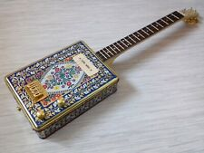 More details for 4 string vintage cadburys tin tenor electric guitar 'cigar box guitar style