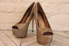 ALDO Glitter Embellished Open Peep Toe High Heels Stiletto Shoes RRP £79 EU 37