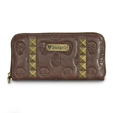 Loungefly Sugar Skull Wallet Brown Studded Wallet Vegan Leather Brown Wallet NEW