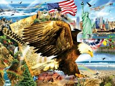 Jigsaw Puzzle Patriotic Let Freedom Ring Across the Land 1000 piece NEW made USA