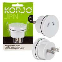 New Korjo JA06 Power Plug Travel Adaptor to Japan US Canada From Australia/NZ