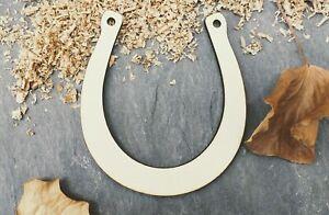 Laser Plywood Horseshoe Horse Shoe Shape x 10, 4mm Plywood Shapes Wood Shapes